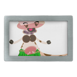 Hula Dancing cow Belt Buckle