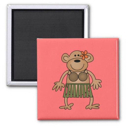 Hula Dancing Monkey Tshirts and Gifts Refrigerator Magnets