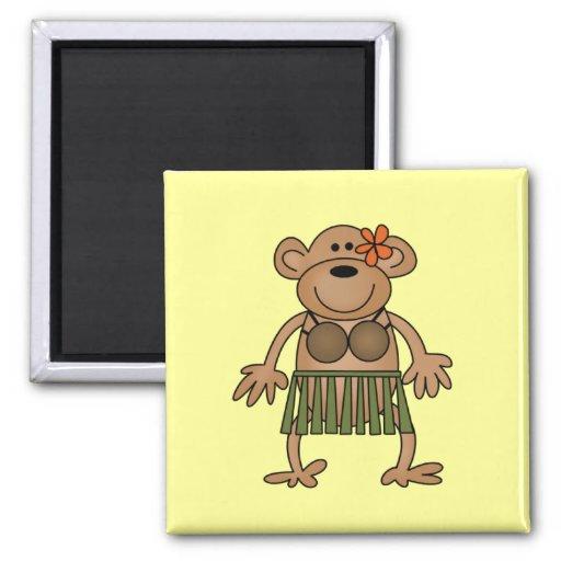 Hula Dancing Monkey Tshirts and Gifts Fridge Magnets