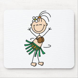 Hula Dancing Stick Figure Mousepad