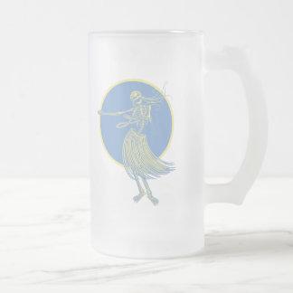 Hula Death Luau Frosted Glass Mug