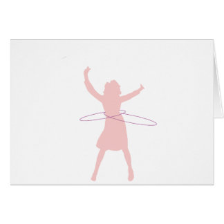 hula girl card