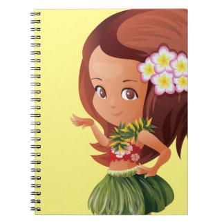 Hula girl notebook