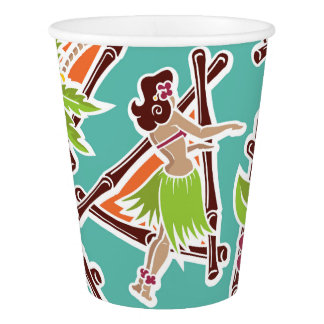 Hula Honey - Aqua - Paper Cups
