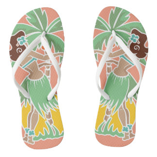 Hula Honey - Coral - Flip Flops