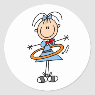 Hula Hoop Girl Sticker