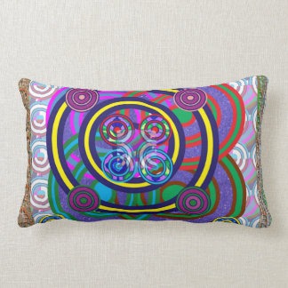 Hula Hoop Girls Game Round Circle Design Lumbar Cushion