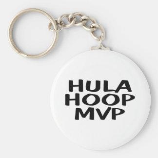 Hula Hoop MVP Basic Round Button Key Ring