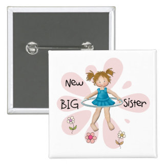 Hula Hoop New Big Sister 15 Cm Square Badge