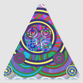Hula Hoop Round Colorful Circles Triangle Sticker