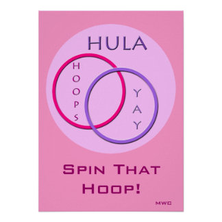 Hula Hoop Spinning Poster