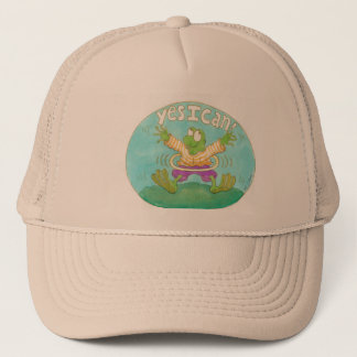 "hula hooping from says ""YES I CAN!"" Trucker Hat"