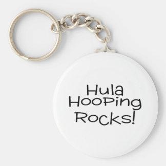 Hula Hooping Rocks Basic Round Button Key Ring