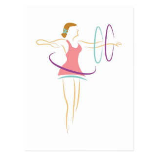Hula Hoops Postcard
