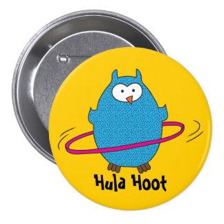 Hula Hoot Owl 7.5 Cm Round Badge