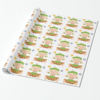 Hula Luau Baby Shower Wrapping Paper