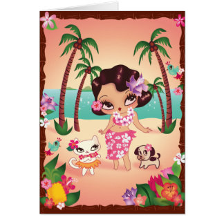 Hula Lulu's Magical Sunset Card