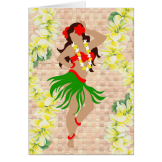 Hula Maiden Card