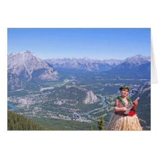 Hula Man in Banff, Canada Card