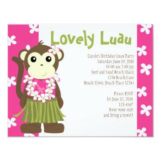 Hula Monkey Card