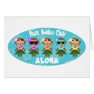 Hula Monkey Club ALOHA Card