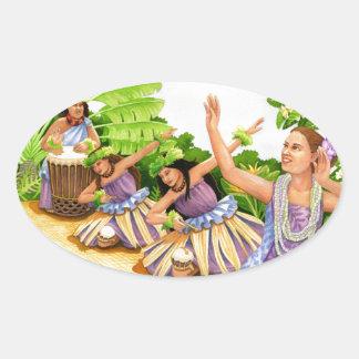 Hula Oval Sticker
