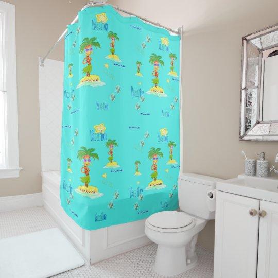 Hula Palm (vacation pattern) Shower Curtain