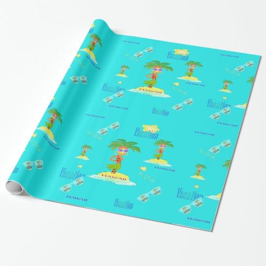 Hula Palm (vacation pattern) wrapping paper