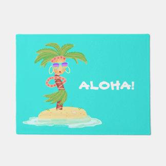 Hula Palm welcome mat