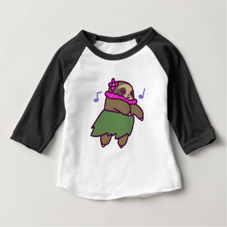 Hula Sloth Baby T-Shirt