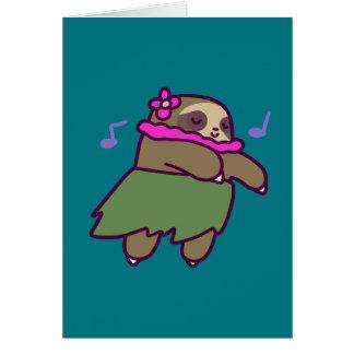 Hula Sloth Card
