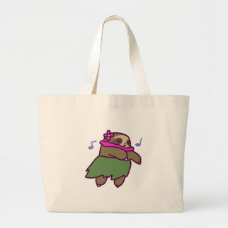 Hula Sloth Large Tote Bag