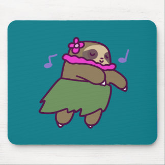 Hula Sloth Mouse Pad
