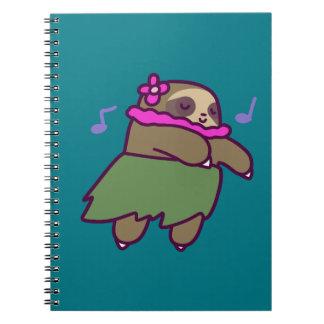 Hula Sloth Spiral Notebook