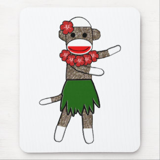 Hula Sock Monkey Mousepad