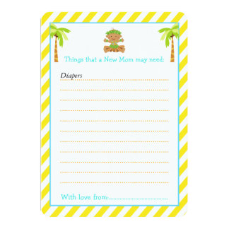 Hula Tropical Boy Advice List for New Moms Card