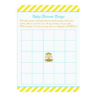 Hula Tropical Boy Baby Shower Bingo Card