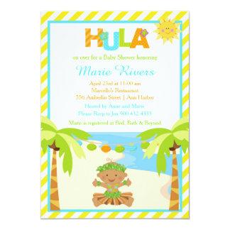 Hula Tropical Boy Baby Shower Card