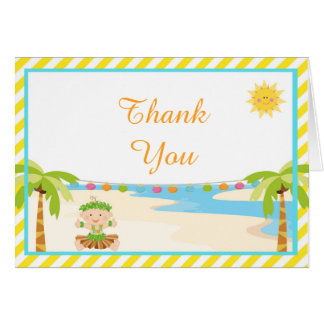 Hula Tropical Boy Thank You Card