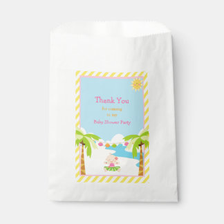 Hula Tropical Girl Baby Shower Party Favour Bag