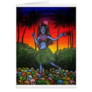 Hula Zombie Card
