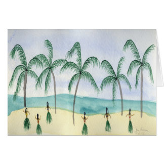Hulas on the Beach Cards
