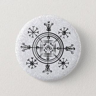 Hulinhjalmur Icelandic magical sign 6 Cm Round Badge
