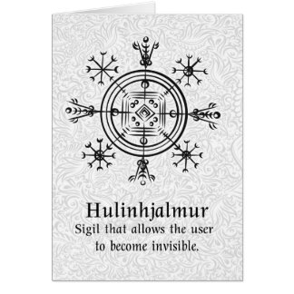 Hulinhjalmur Icelandic magical sign Card