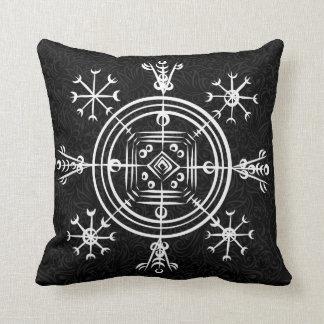 Hulinhjalmur Icelandic magical sign Cushion