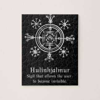 Hulinhjalmur Icelandic magical sign Jigsaw Puzzle
