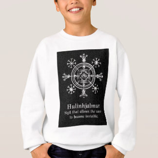 Hulinhjalmur Icelandic magical sign Sweatshirt