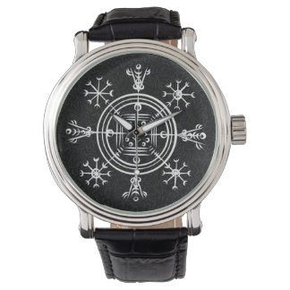 Hulinhjalmur Icelandic magical sign Wrist Watches