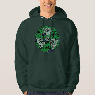 Hulk Comic Patterned Radioactive Symbol Hoodie