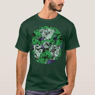Hulk Comic Patterned Radioactive Symbol T-Shirt